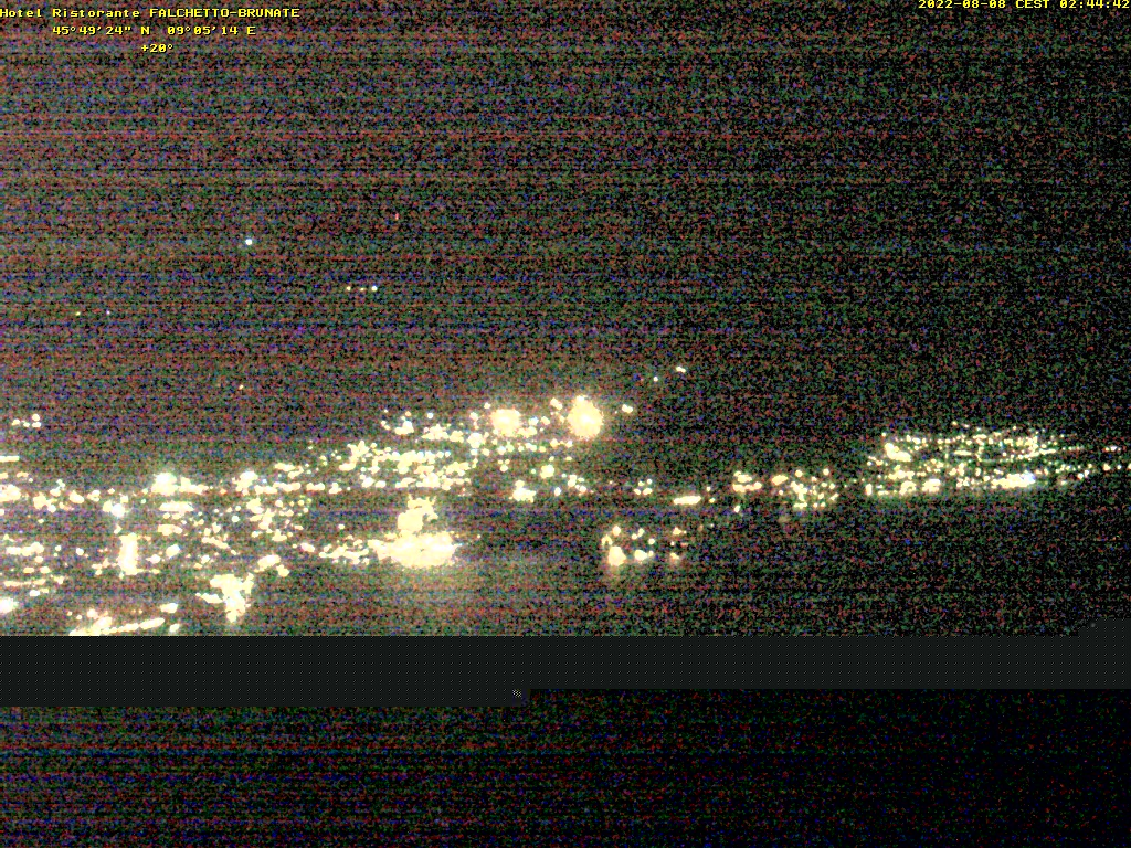 Webcam am Lago di Como vom Ristorante Hotel Falchetto